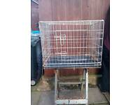 Dog/pet cage 30ins.x24ins.x20ins galvanised metal folds flat