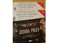 Anthony Joshua V Kubrat Pulev (Carlos Takam) Tickets x 2