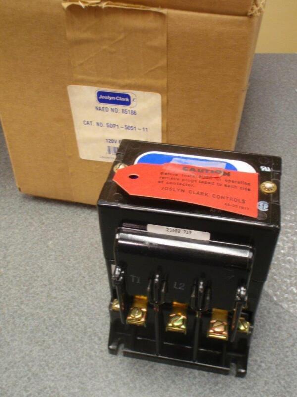 JOSLYN CLARK 5DP1-5051-11 CONTACTOR 120V 60Hz NAED #85186 *NEW IN BOX*