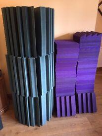 Studio sound treatment foam