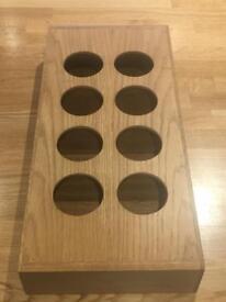 Oak cutlery spice tray
