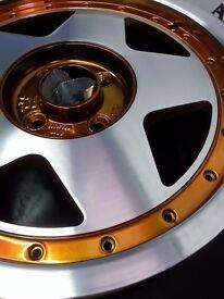 ATS 5* 15inch diamond cut wheels
