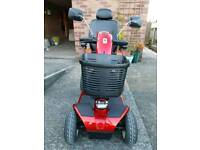 Pride Colt Sport mobility scooter in red