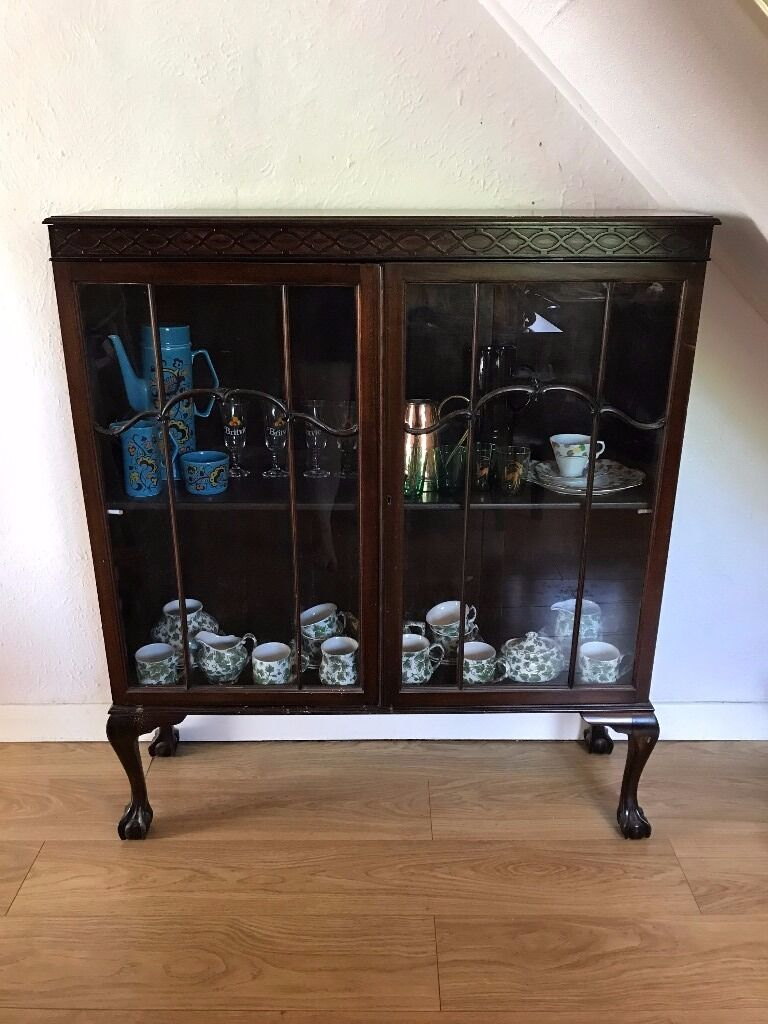 Beautiful Victorian Hand Made Display Cabinetin Bordon, HampshireGumtree - This beautiful cabinet is finished in dark wood with beautiful detailing. From what I know one of my recent ancestors made it around the turn of the century. Claw and ball feet