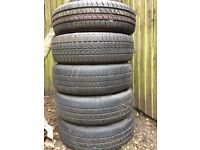 Set of 5 steel wheels and tyres 175 / 70 R13