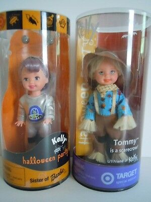 RARE SET TOMMY DOLL AS A SCARECROW + KELLY WEARS ALIEN OUTFIT HALLOWEEN PARTY