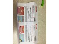 2 Lego land tickets