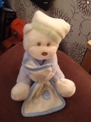 Aurora Baby Teddy Bear Snail Comforter Blankie Soft Hug Toy