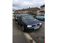 VW Golf estate in blue, great drive, full service history