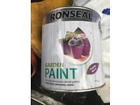 Ronseal garden paint in purple berry