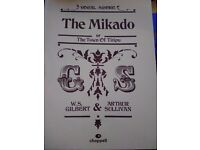 The Mikado by Gilbert & Sullivan. Chappell score