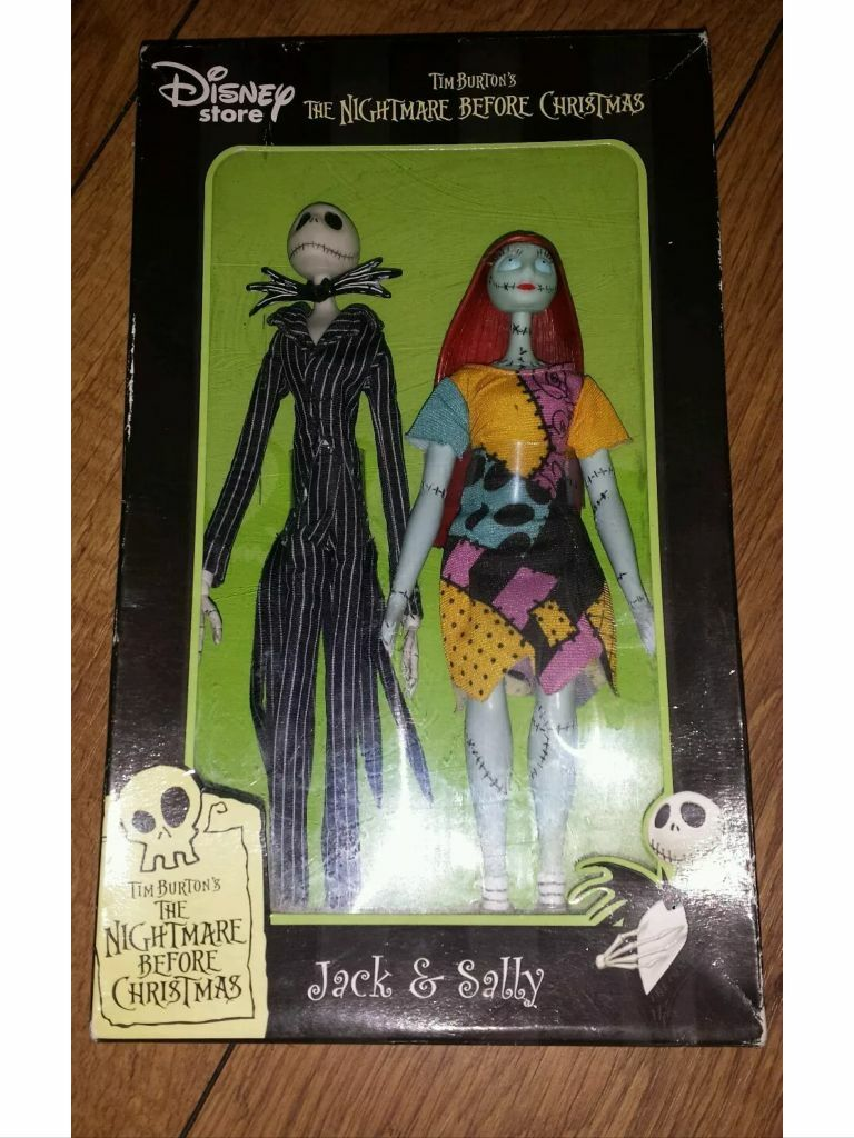 Disney store nightmare before Christmas jack skellington Sally dolls ...