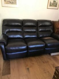 Free must collect. 3 and 2 seater sofa and arm chair all reclining