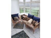 Double seater sofa and single seat. Ideal for conservatory's