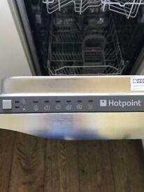 Hotpoint slimline integrated dishwasher