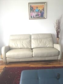Real leather 3 seater sofa from Harvey's