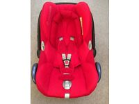 Maxi Cosi Cabriofix red car seat including toy & mirror