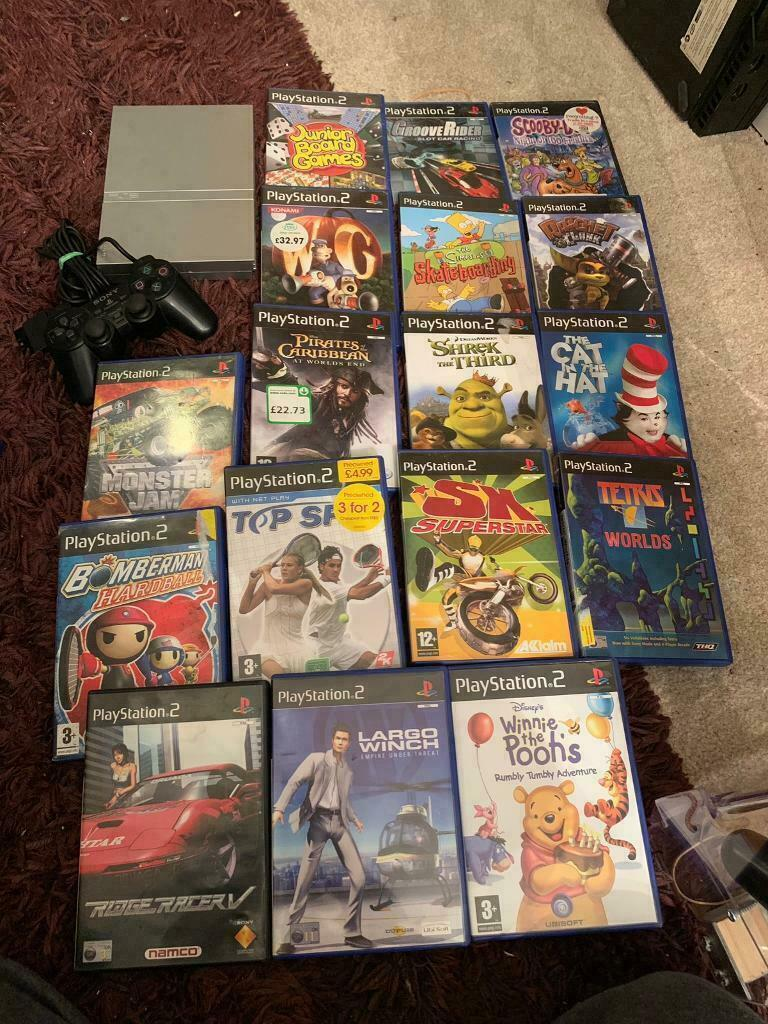 Slim silver Sony ps2 console and games | in Huddersfield, West Yorkshire |  Gumtree
