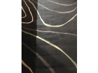 Navy blue contemporay rug - very practical colour - looks great