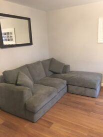 Grey corner sofa from Next, 2years old.