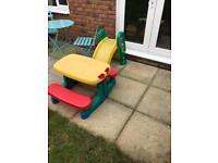 Little tikes slide/bench