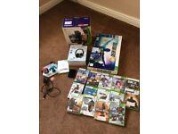 Xbox 360 Kinect 4gb bundle / games / guitar hero and more
