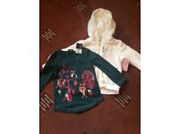 Brand new with tags girls fleece and tshirt 18-24 months