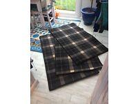 New Poor Wool Tartan Rugs x 3