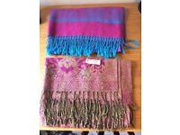 2 beautiful pashminas / scarves