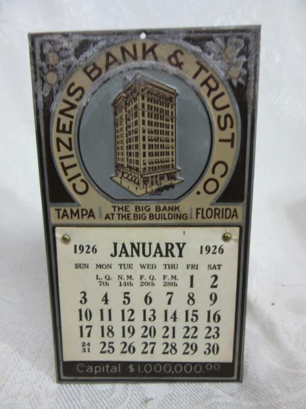 1926  TAMPA, FLORIDA   CITIZENS BANK & TRUST CALENDAR   Complete