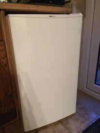 PROline white under-counter fridge