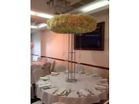WEDDING CENTREPICES HAILO 6FT TALL AND CRYSTAL CANDLEABRAS TABLE CENTREPIECES FOR SALE