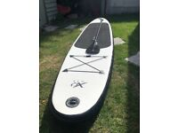 XQ Max Paddleboard Inflatable with fins, aluminium paddle, pump, carry bag, repair kit