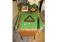 FREE STANDING (FOLDING) RILEY SNOOKER/POOL/BILLIARDS TABLE (4ftX2ft)