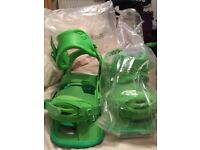 Limite edition burton cartel lime green snowboard bindings