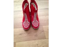 Red pretty girl shoe