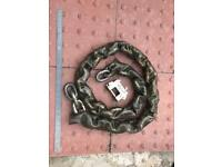 Cisa high security motorcycle lock & chain