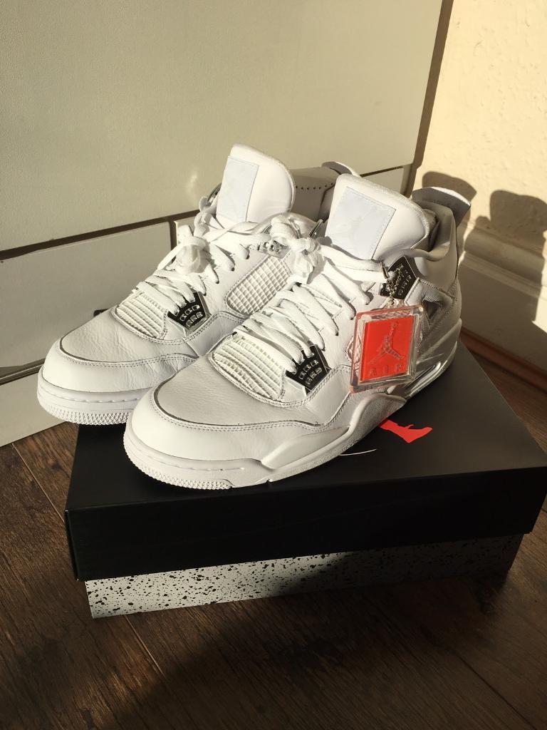 Jordan 4 Retro White Pure Money UK size 14