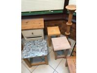 Assorted Wooden and Wicker Furniture (12)