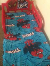 Spider-Man bed with mattress and free cover