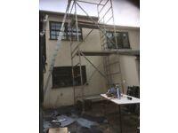 Two alto aluminium scaffold towers