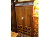 solid pine wine cupboard