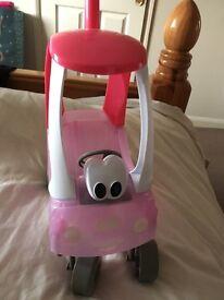 Little baby born push along car