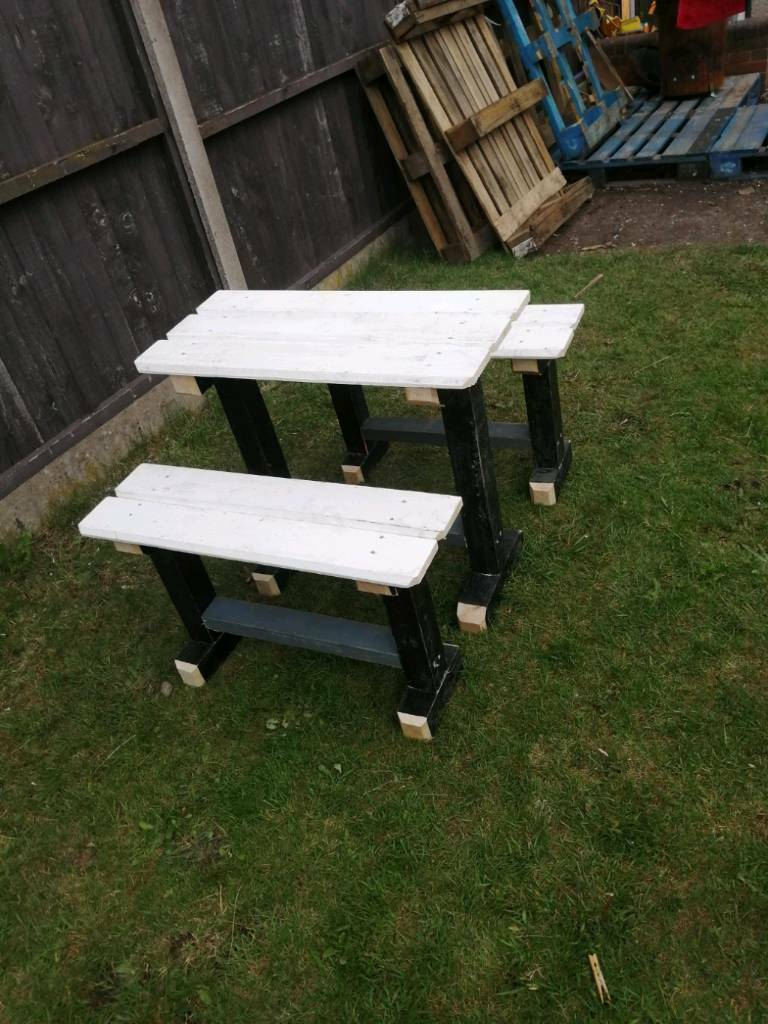 Astonishing Handmade Kids Table And Bench Set In Norris Green Merseyside Gumtree Theyellowbook Wood Chair Design Ideas Theyellowbookinfo