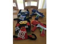 Nerf gun x2 plus 2 vests & 2 goggles