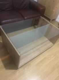 Glass/ wooden coffee table