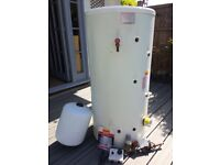 200L Unvented stainless steel cylinder + other parts