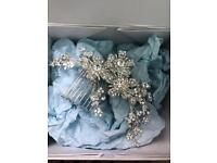 Bridal hair comb piece
