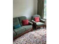 Sofa and 2 armchairs pillow included