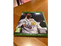 FIFA 18 on XBOX ONE. BRAND NEW AND FACTORY SEALED.